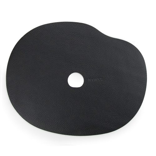 Black table mat and coaster