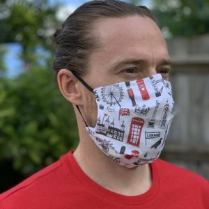 FM03 – Big Smoke Pleated Fabric Face Mask – pack of 12