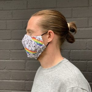 FM01 – Rainbow Fitted Fabric Face Mask – pack of 12