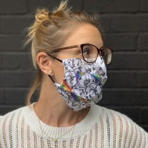 FM02 – Rainbow Pleated Fabric Face Mask – pack of 12