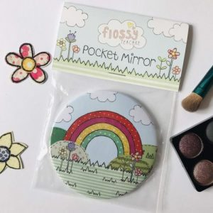 Flossy Teacake Rainbow Pocket Mirror - Rainbow 2 500x500