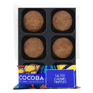SALTED CARAMEL TRUFFLES, pack of 8 - Salted Caramel Truffles Tray Wrapped 500x500