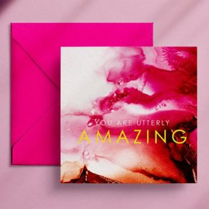 Wendy Bell Designs Card VIBRANT NOTES You are utterly amazing - VN08 500x500
