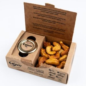 Vanilla Salted Caramel Cashew Nuts Tray with Sugarcane Dip (Case x6)