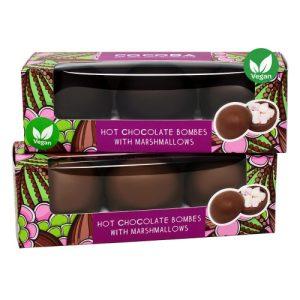 Top Rated Hot Chocolates Bundle - Vegan Milk Chocolate Hot Chocolate Bombes 500x500