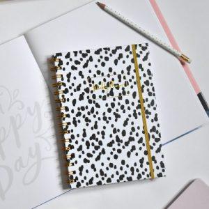 Spiral Bound Wild Dots Weekly Planner, pack of 6