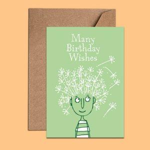 Birthday Card – Many Birthday Wishes (WAC18155)