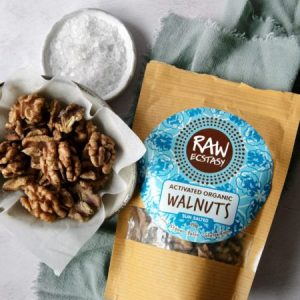 Activated Organic Walnuts : Sun Salted 70g pack of 6