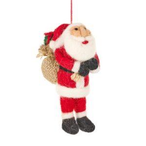 Handmade Felt Father Christmas Santa Tree Hanging Decoration