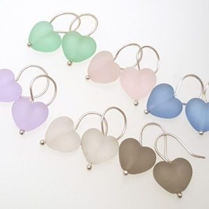 Cora Heart Earrings - Harmony Collection - flate white group 500x500