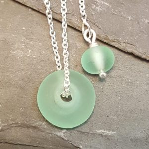 Verity Necklace - Harmony Collection - grey flat green 500x500
