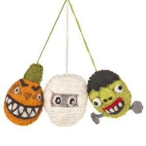 Handmade Felt Hanging Spooky Family Halloween Decorations