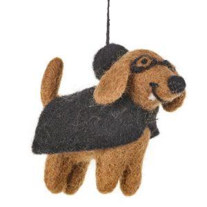 Handmade Hanging Fang the Vampdog Biodegradable Halloween Decoration