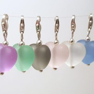 Cora Heart Clip on Charms - Harmony Collection - hang white group 500x500