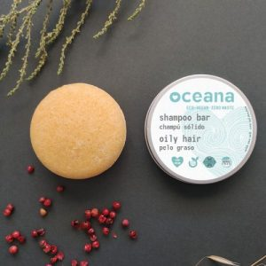 Oceana Solid Shampoo Bar + Aluminium Can. For Oily Hair, Vegan, Handmade, Sulfates Free and Plastic Free - oily hair 500x500