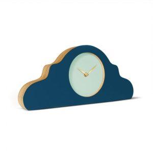 Mantel Clock Petrol Blue – Face: Gale Green; Hands: Glimmend Goud