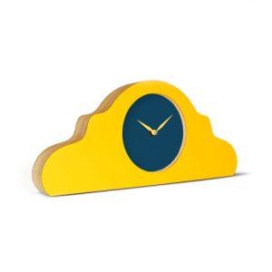 Mantel Clock Signal Yellow – Face: Petrol Blue; Hands: Signal Yellow