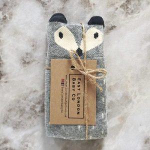 FOXY SOCKS Grey Fox 0-2 years - socks grey 500x500