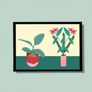 Plants – A4 wall art print