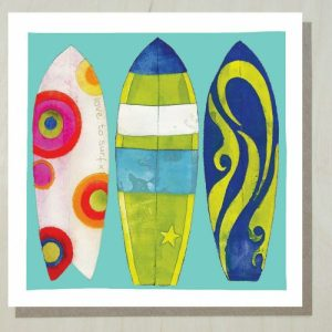 Surfboards Greeting Card (bundle of 6) Matching gift wrap available.