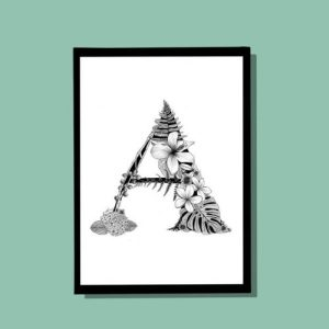 A Monogram A4 print