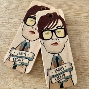 Jarvis Cocker Character Wooden Keyring – RWKR1 – Pack of 6
