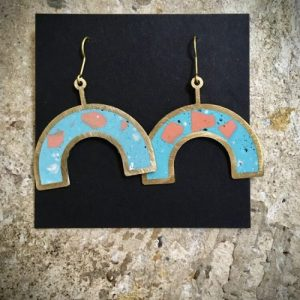 RAINBOW EARRINGS, TURQUOISE AND ORANGES - 12 71E2C83A 71F2 4F8C AB64 F07AD728D55F 500x500