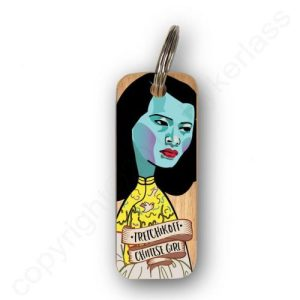 Tretchikoff Chinese Girl Character Wooden Keyring – RWKR1 – Pack of 6
