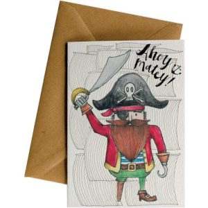 AHOY MATEY PIRATE #002 – Greeting Cards – Pack of 4