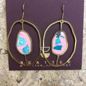 OUTSIDE IN EARRINGS IN CORAL PINK, GREENS - 14 EBCC7118 D6E1 4B09 8532 FC505E5F71F2 500x500