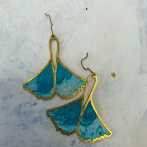 LARGE GINGKO EARRINGS IN MARBLED BLUES - 16 71E37419 D4BF 43D3 8342 1BE9F811F7AA 500x500