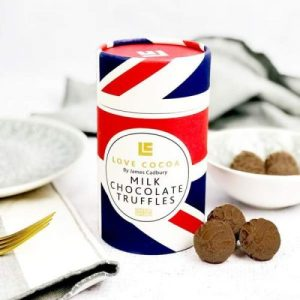 BRITISH MILK CHOCOLATE TRUFFLES 150g, pack of 10 tubes - 17 british milk chocolate truffles for him glutenfree great britain tube love cocoa food party favor 187 600x 500x500