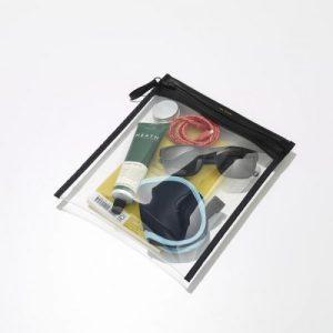 MORETON - FLAT POUCH - Black - Pack of 2 - 2 take monday flat travel pouch clear black 1 600x 500x500