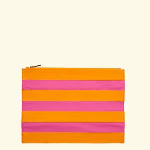 FLASH LEATHER – Orange + Fucsia