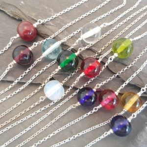 Emily Necklace - Choker Style - Birthstones in Glass Collection - 20180712 103317 500x500