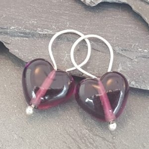 Cora Heart Earrings - Birthstones in Glass Collection - 20180715 214043 500x500