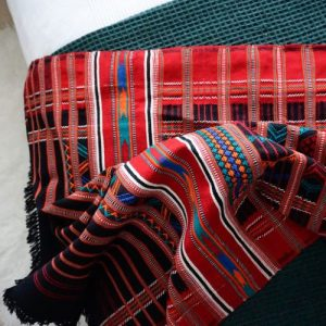 Nomad Hand Woven Cotton Throw – Red and Black – PATU-THRW-RED 160 x 90cms