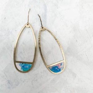 PERFECT DROP EARRINGS IN SWIRLY BLUE AND PINK - 22 37E04FB0 4F7F 43AF 9AC3 294DE097A813 500x500