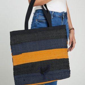 Blue & Gold Cida Shopper Bag