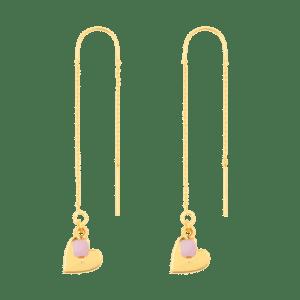 Earring - Heart & Pink - 252  Earring Heart Pink 500x500