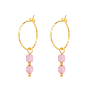 Earring - 2 Pink Beads - 253  Earring 2 Pink Beads 500x500