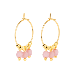 Earring - 3 Pink Beads - 256  Earring 3 Pink Beads 500x500