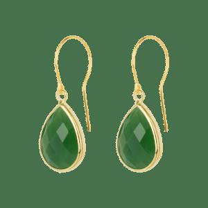 Earring - Green Drip - 257  Earring Green Drip 500x500