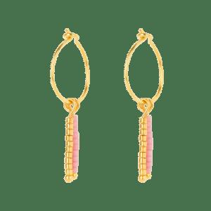 Earring - Miyuki Pink - 259  Earring Miyuki Pink 500x500