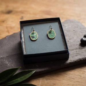 IRREGULAR OVAL EARRINGS SMALL - Mint Green - 3 irregular ovals small 3 m green 500x500