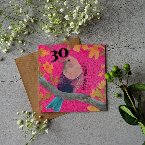 30y birthday card