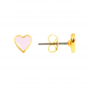 Studs - Heart Light Pink - 302  Studs Heart Light Pink 500x500
