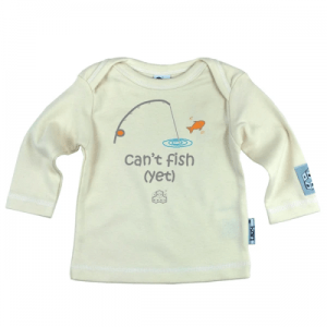 Newborn gift for parents who fish – Can't fish Yet