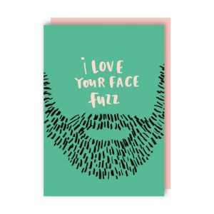 Face Fuzz Valentine's Day Card pack of 6