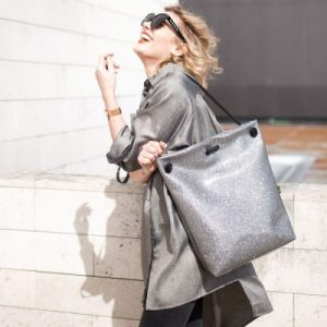 SILVER COSMO BAG-BACKPACK